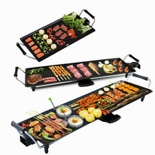 More details for electric teppanyaki table top grill griddle bbq hot plate barbecue l/xl/xxl size