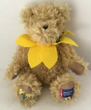 """Boyds Plush Bear Liv N Hope 2010 Daffodil Days American Cancer Society 8"""""""