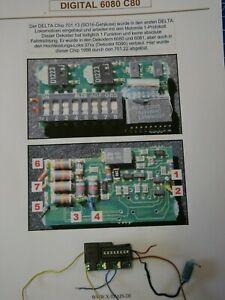 Märklin Digitaldecoder 6080, aus 3656 Mit Schaltplan und Anschlussplan ,geprüft