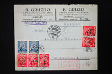 Latvia Registered 1925 Stamped Covers Lot of 7