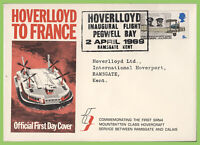 G.B. 1968 5d Anniversaries on Official Hoverlloyd First Day Cover
