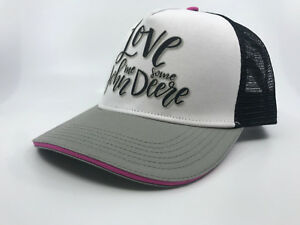 JOHN DEERE PINK / WHITE / BLACK  LADIES TRUCKER CAP CPLP68663
