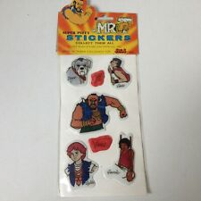 MR T animated SUPER PUFFY STICKERS A-TEAM B.A. Baracus Bad Attitude 1984 1980s