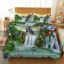 Fish Jumping Water 3D Printing Duvet Quilt Doona Covers Pillow Case Bedding Sets