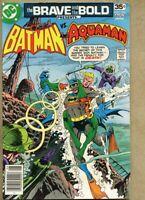 Brave And The Bold #142-1978 fn 6.0 Jim Aparo Batman Aquaman