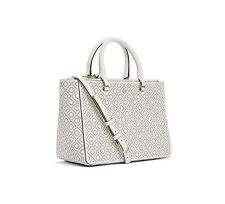 Tory Burch Bag Robinson Perforated Small Multi Tote Ivory Agsbeagle