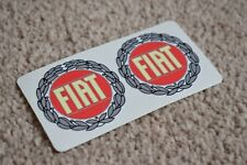 FIAT Racing Race Sports Bikes Car Rally Decal Stickers Rounded Red Grey 50mm