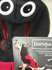 "Petco""Bootique""S NEW Dog/Lg Cat Costume LadyBug Hoodie Walking Coat Small Red"