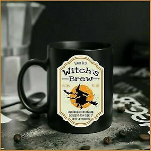 Witchy Blue Moon Mug Witch'S Brew Halloween Coffee Cup Funny Gift Funny Gift Cup