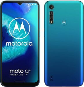 Motorola G8 Power Lite Smartphone 64GB Dual-Sim Arctic Blue (Damaged Sim Tray)B-