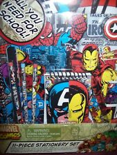 Marvel Comics 11-Piece Stationery Set - All You Need For School! - Brand New