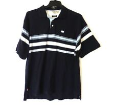 Ecko unltd Mens Size L Blue Striped Mesh The Banks Polo Shirt Great Condition