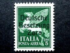ITALIA REGNO OCCUPAZIONE TEDESCA ZARA P AEREA 5 L  1943 MNH** CV € 15.000 ITALIE
