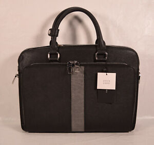 Zara Briefcase Mens Black Laptop Computer Case Travel Black M