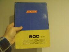 Fiat 500 Car body parts manual  - vintage Microcar