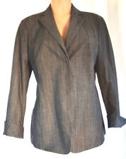 AKRIS DENIM  FRONT BUTTON COLLAR JACKET/BLAZER SIZE D42 US 12