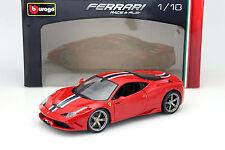 Ferrari 458 speciale rojo/blanco/azul 1:18 Bburago