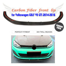 1PC Carbon Fiber Front Bumper Lip Fit for VW GOLF VII 7 MK7 GTI 2014-2016