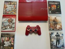 PlayStation 3 Console & Bundle - 6 Games & 1 Controller - Garnet Red PS3 [Rare]