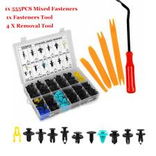 555x Car Body Plastic Push Pin Rivet Fasteners Trim Panel Moulding Clip +Tool