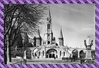 CPSM 65 - Lourdes la basilique et la vierge couronnée
