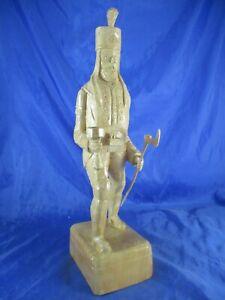 Bergmann v. G.Langer Schnitzerei geschnitzt Bildhauer Handarb. Erzgeb. 38 cm