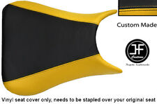 BLACK & YELLOW VINYL CUSTOM 03-05 FITS YAMAHA 600 YZF R6 FRONT SEAT COVER ONLY