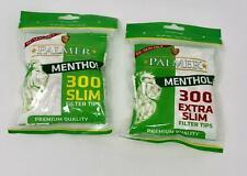 300 Palmer Extra Slim & Slim Menthol Cigarette Filter Tips Resealable