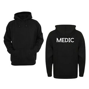 Medic Hoodie Medical Workwear Small Business Uniform Industrial Office Jumper