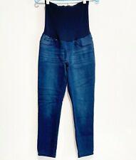 Vintage Violet Maternity Womens Dark Wash Skinny Ankle Jeans Size Large