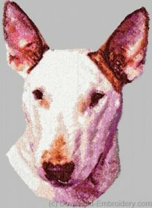 Embroidered Long-Sleeved T-shirt - Bull Terrier DLE1497  Sizes S - XXL