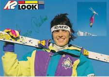 Sonja Reichart ski freestyle autografiada tarjeta firmada 374451