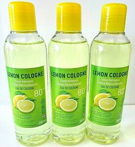 Limon Kolonyasi 80° Kölnisch Wasser Kolonya  Zitrone Duftwasser  3x 200 ml