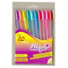 10 x Bolígrafo de Gel Sakura Gelly Roll Esmalte efecto 3D conjunto Conjunto de 10 Colores Surtidos