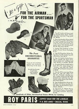 1946 vintage ad, Roy Paris Leather Jackets & Clothes for the Airman -080613