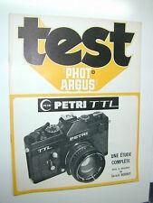 TEST PHOT ARGUS   PETRI TTL  en français photo photographie