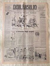 Don Basilio n.12 - 19 marzo 1950 settimanale satirico d'opposizione
