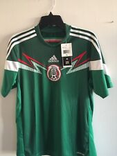 Adidas Mexico Home Green White Soccer Jersey 2014 Size YXL Boy's Only