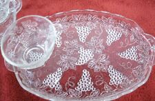 "8 Piece Snack Set Grape Pattern by Anchor Hocking 11.25""  X 6.75""  2 Sets Avail"