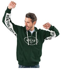 New York JETS Official NFL Hands High Game Day Fleece Hoodie Jacket ~ XL