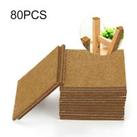 80pc Self Adhesive Felt Furniture Pads Wood Floor Protector Laminate Chair Feet