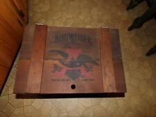 BUDWEISER CRATE WOODEN VINTAGE ORIGINAL ST. LOUIS GRAPHIC