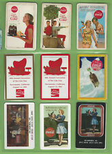 #T305.   LOT OF  COKE COCA COLA  PLAYING CARDS, TAZOS & COASTERS