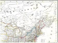 Der WILDE WESTEN von Amerika in 4 echten alten Landkarten der USA Old Map 1852