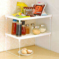 Folding & Stacking Kitchen Bathroom Shelf Cupboard Organiser Rack  -Jar, Satchet