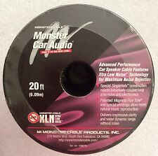 Monster Cable Car Speaker Cable 16 Gauge 20 Ft XLN Extra Low Noise Single Helix