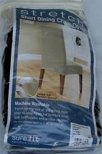 Sure-Fit One-Piece Stretch Short Dining Chair Slipcover - Chocolate - BRAND NEW