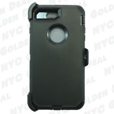 For iPhone 8 Heavy Duty Defender Case w/(Belt Clip Fits Otterbox) Black