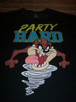 WB LOONEY TUNES TAZ TASMANIAN DEVIL PARTY HARD T-Shirt LARGE NEW