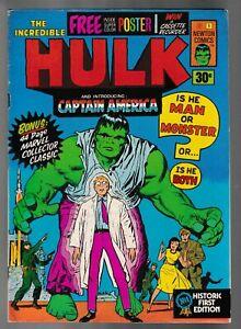 The Incredible Hulk #1   - Newton Comics / 1975 / With Poster /